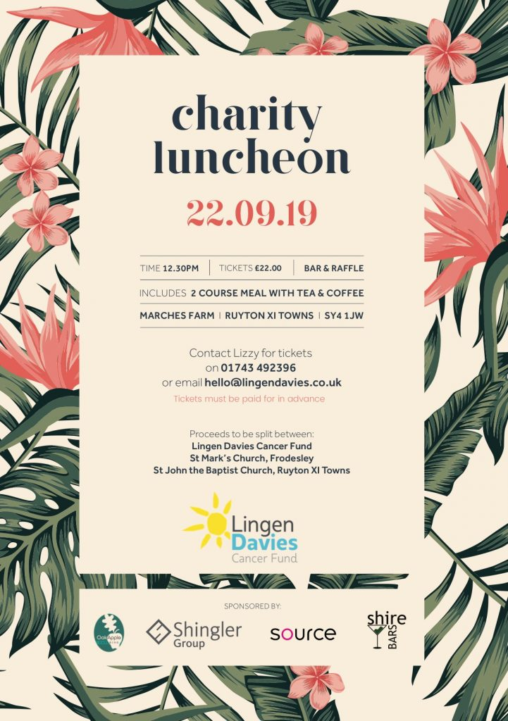 Charity Luncheon @ Marches Farm, Ruyton XI Towns